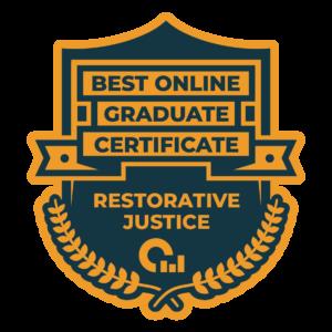 Best Online Graduate Certificate in Restorative Justice